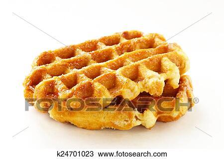 homemade Belgian waffle Stock Image