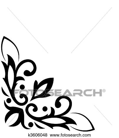 Clip Art Of Angular Classical Pattern K40 Search Clipart Enchanting Angular Pattern