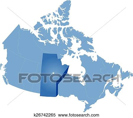 Carte Canada Manitoba.Carte De Canada Manitoba Province Clipart K26742265