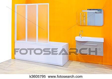 Stock Afbeelding - gele badkamer k3605795 - Zoek Stock Foto\'s ...