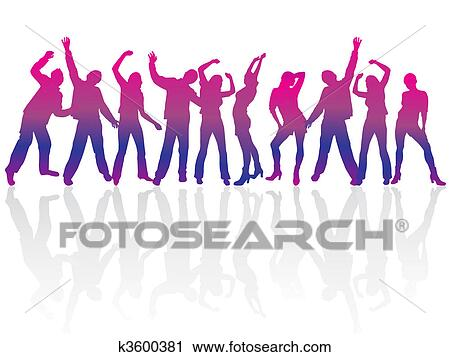 clipart of happy people k3600381 search clip art illustration rh fotosearch com