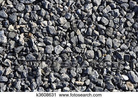Häufig Kies, grau, stein, gewebe, für, asphalt, mischling, beton Stock CA73