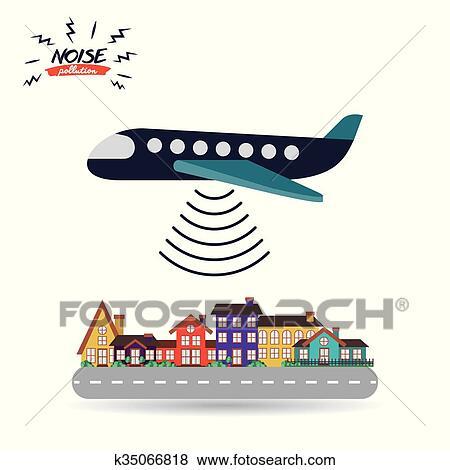 Noise Pollution Design Clip Art K35066818