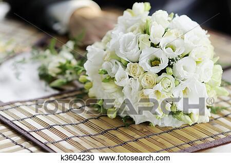 Stock Fotografie Weisse Hochzeit Blumen K3604230 Suche