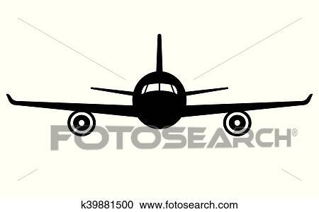 飛行機 Icon 正面図 飛行 航空機 クリップアート切り張り