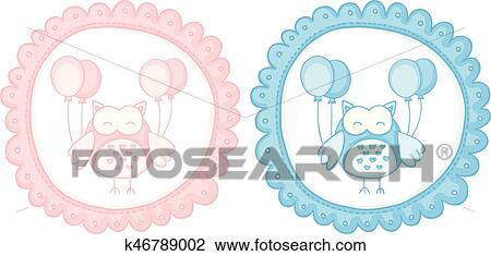 clipart of baby owl baby shower sticker labels k46789002 search