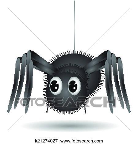 Cartone animato ragno clip art k fotosearch