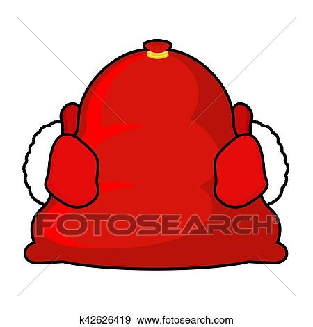 f9a23195c7a30 Clip Art - Santa bag and red mittens. Big sack with gifts. Giving gifts