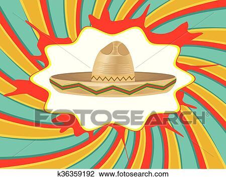 Clipart - sombrero mexicano b9da1e364c5