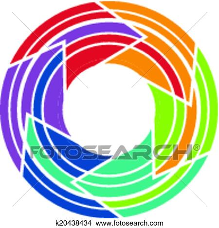 clipart of abstract colorful camera lens image k20438434 search rh fotosearch com camera lens clipart vector camera lens clipart png