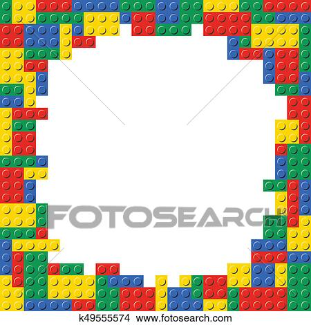 Drawings Of Building Block Frame Border Background Template