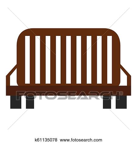 Excellent Isolated Wooden Bench Icon Clip Art K61135078 Fotosearch Pabps2019 Chair Design Images Pabps2019Com