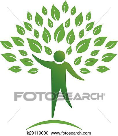 Clipart Person Baum Logo K29119000 Suche Clip Art