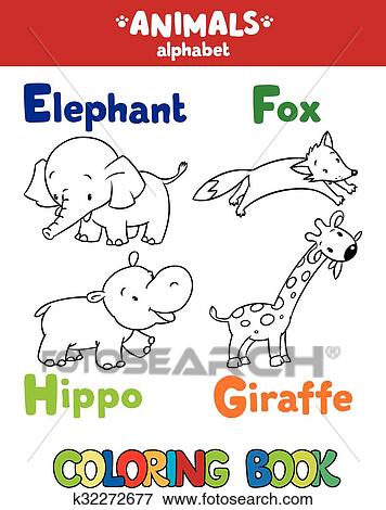 Clip Art Tiere Alphabet Oder Abc Ausmalbilder K32272677