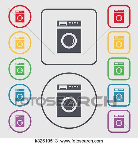 Drawing of washing machine icon sign. Symbols on the Round and ... on washing symbols legend, laundry symbols, clothes dryer, washing instruction symbols, refrigerator symbols, industrial laundry, dry cleaning symbols, washing symbols uk, washing symbols explained, green dot, washing car symbols, clothes line, yarn washing symbols, packaging machine symbols, skull and crossbones, recycling symbol, power symbol, fabric restoration, electronic symbol, no symbol, washing symbols guide, tattoo machine symbols, fair trade certified mark, self-service laundry, washing symbols and meanings, fabric washing symbols, hazard symbol, washing machines and dryers, greenearth cleaning, fabric softener, clothes washing labels symbols, slot machine symbols, washing care symbols, dry cleaning, dish washing symbols, machine blueprint reading symbols, period-after-opening symbol,