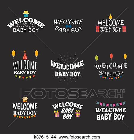 """Baby Gift Postcard Baby /""""Hello Baby Boy/"""" Gift for Birth"""