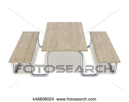 Stainless Steel Bathroom Vanity Cabinet, Wooden Picnic Table 3d Stock Illustration K48808024 Fotosearch
