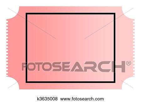 stock illustration of blank ticket k3635008 search eps clip art