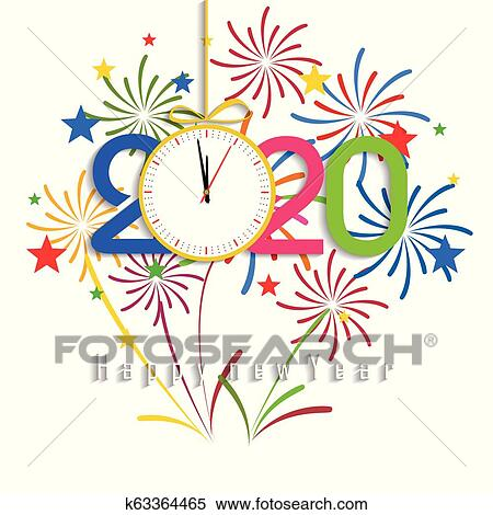 Happy New Year Clipart 2020 28