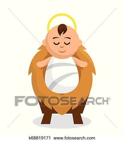 Jesus Bebe Personagem Icone Clipart K68819171 Fotosearch