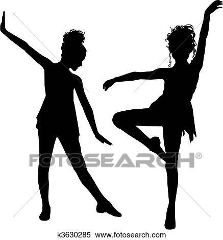 clipart of joy dancing children k3630285 search clip art