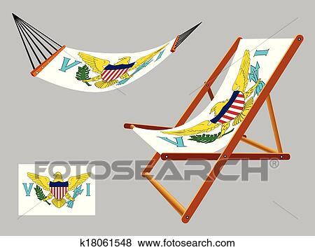 Sonnenstuhl clipart  Clip Art - jungferninseln, hängemattte, und, sonnenstuhl k18061548 ...