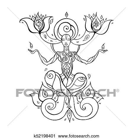 Meditation Yoga Silhouette Clipart K52198401 Fotosearch