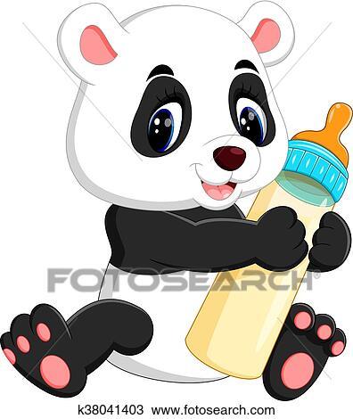 Mignon Bébé Panda Clipart