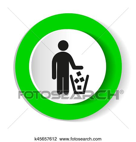 Clipart Of No Littering Sign Vector K45657612 Search Clip Art