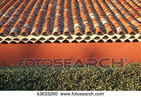 Terracotta roof tiles Stock Image