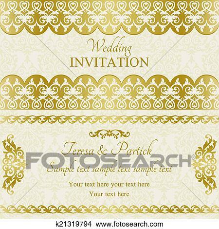 Clipart Barock Hochzeitskarten Gold K21319794 Suche Clip Art