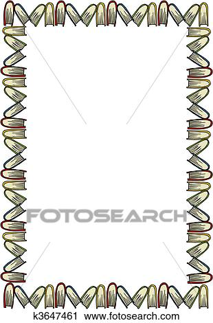 Clipart of Closed books Frame k3647461 - Search Clip Art