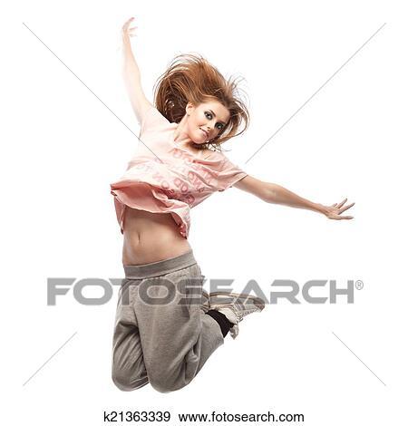 stock photograph of girl hip hop dancer k21363339 search stock