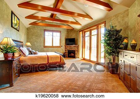 Tropical Bedroom Interior Stock Photo K19620058 Fotosearch