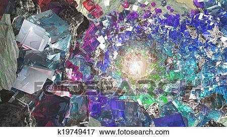 水晶 大洞窟 イラスト K19749417 Fotosearch