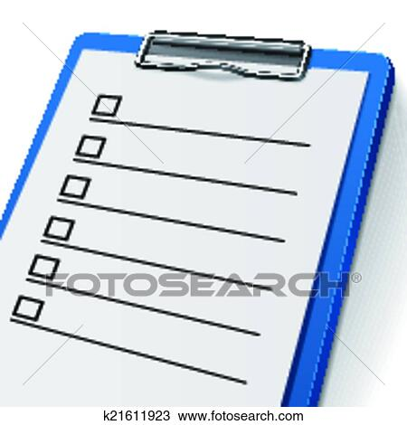 clipart blank checklist clipboard fotosearch search clip art illustration murals drawings