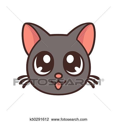 Clipart carino anime gatto k50291612 cerca clipart for Gatto clipart