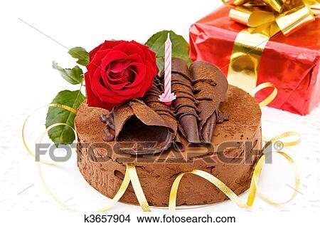 Stock Photo Of Happy Birthday Festive Cake K3657904 Search Stock