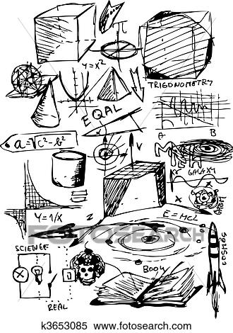 Stock Illustration Of Math Symbols K3653085 Search Clipart