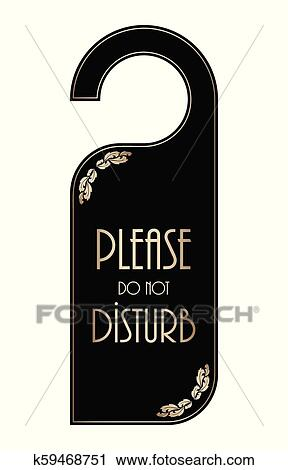 clipart of please do not disturb hotel door hanger k59468751 rh fotosearch com please do not disturb clipart please do not disturb sign clipart
