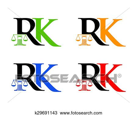 clipart of rk law initial k29691143 search clip art illustration rh fotosearch com Scales of Justice Drawing Criminal Justice Clip Art