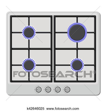 Stove Fire Clipart