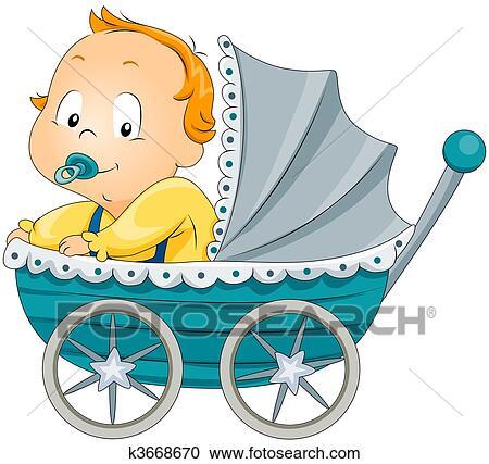Baby Boy Clipart (Grafik) von VR Digital Design · Creative Fabrica