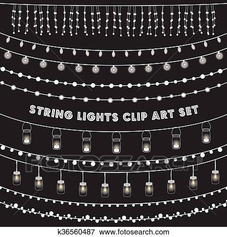 String Lights Clipart Inspiration Clip Art Of Chalkboard String Lights Set K60 Search Clipart