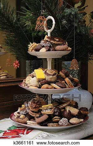 Christmas Cookies From Czech Republic Stock Image