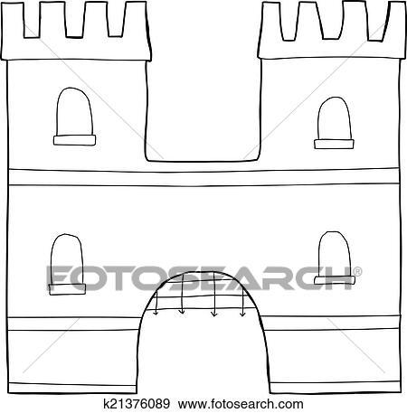 Letter H In Outline Of A Medieval Castle