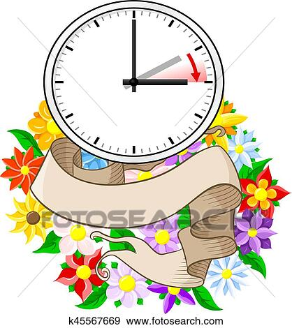 clip art of time change to daylight saving time k45567669 search rh fotosearch com daylight savings time clip art fall back daylight savings time clip art images free