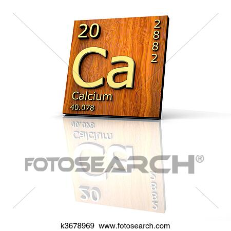 Stock Illustration Of Calcium Form Periodic Table Of Elements