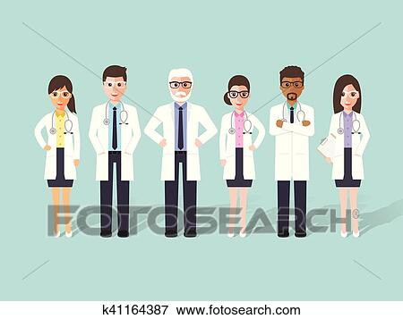 Clip Art Of Doctor Medical And Hospital Staff Characters K41164387