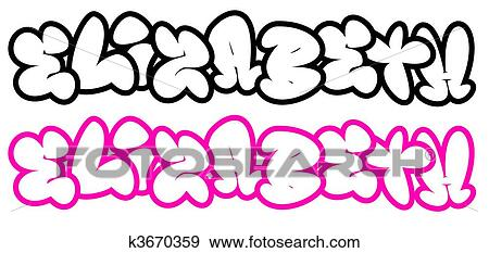 Stock illustration of elizabeth in funny graffiti fonts k3670359 the name elizabeth in funny graffiti style bubble fonts thecheapjerseys Image collections